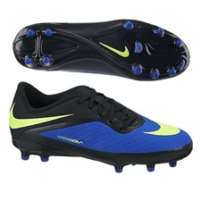 Nike Hypervenom Phelon Youth Soccer Cleats (Hyper Blue/Black/Volt)