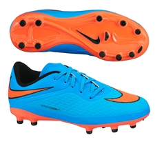 Nike Hypervenom Phelon Youth Soccer Cleats (Clearwater/Blue Lagoon/Total Crimson)