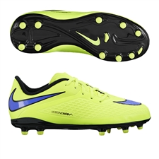 Nike Hypervenom Phelon Youth Soccer Cleats (Volt/Black/Persian Violet)