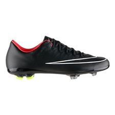 Nike Youth Mercurial Vapor X FG Soccer Cleats (Black/Hyper Punch/Black)