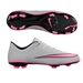 Nike Youth Mercurial Vapor X FG Soccer Cleats (Wolf Grey/Black/Hyper Pink)