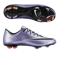 Nike Youth Mercurial Vapor X FG Soccer Cleats (Urban Lilac/Bright Mango/Black)