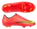Nike Youth Mercurial Vapor X FG Soccer Cleats (Hyper Punch/Metallic Gold/Black/Volt)
