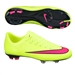 Nike Youth Mercurial Vapor X FG Soccer Cleats (Volt/Black/Hyper Pink)