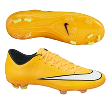 Nike Youth Mercurial Vapor X FG Soccer Cleats (Laser Orange/Black/Volt/White)