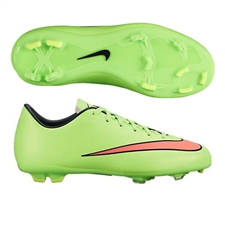 Nike Youth Mercurial Victory V FG Soccer Cleats (Electric Green/Hyper Punch/Black/Volt)