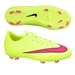 Nike Youth Mercurial Victory V FG Soccer Cleats (Volt/Black/Hyper Pink)