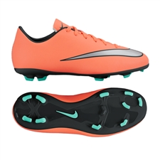 Nike Youth Mercurial Victory V FG Soccer Cleats (Wolf Grey/Black/Hyper Pink)