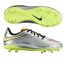 Nike Hypervenom Phelon Premium Youth Soccer Cleats (Chrome/Metallic Gold Coin/Hyper Pink)