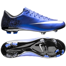 Nike Mercurial Vapor X CR7 FG Youth Soccer Cleats (Deep Royal Blue/Racer Blue/Black/Metallic Silver)