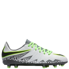 Nike Hypervenom Phelon II Youth Soccer Cleats (Pure Platinum/Black/Ghost Green)