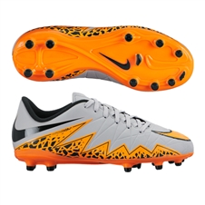 Nike Hypervenom Phelon II Youth Soccer Cleats (Wolf Grey/Total Orange/Black)