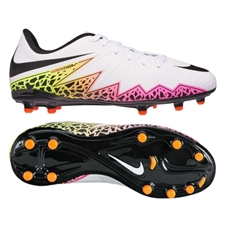 Nike Hypervenom Phelon II Youth Soccer Cleats (White/Total Orange/Volt/Black)