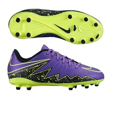 Nike Hypervenom Phelon II Youth Soccer Cleats (Hyper Grape/Black/Volt)