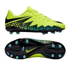 Nike Hypervenom Phelon II Youth Soccer Cleats (Volt/Black/Hyper Turquoise/Clear Jade)