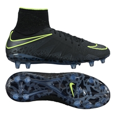 Nike Youth Hypervenom Phantom II Soccer Cleats (Black/Black)