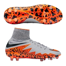 Nike Hypervenom Phantom II Youth Soccer Cleats (Wolf Grey/Total Orange/Black)
