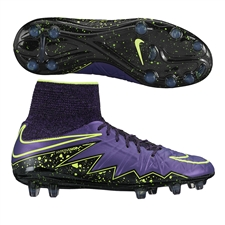 Nike Hypervenom Phantom II Youth Soccer Cleats (Hyper Grape/Black/Volt)