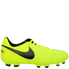 Nike Youth Tiempo Legend VI FG Soccer Cleats (Volt/Black/Volt)