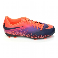 Nike Hypervenom Phade II Youth Soccer Cleats (Total Crimson/Obsidian/Vivid Purple)