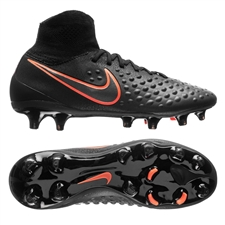 Nike Magista Obra II FG Youth Soccer Cleats (Black/Black)