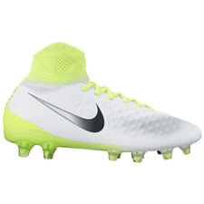 Nike Magista Obra II FG Youth Soccer Cleats (White/Black/Volt/Pure Platinum)