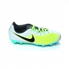 Nike Magista Opus II FG Youth Soccer Cleats (Pure Platinum/Black/Ghost Green)