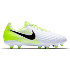 Nike Magista Opus II FG Youth Soccer Cleats (White/Black/Volt/Pure Platinum)