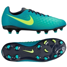 Nike Magista Opus II FG Youth Soccer Cleats (Rio Teal/Volt/Obsidian/Clear Jade)