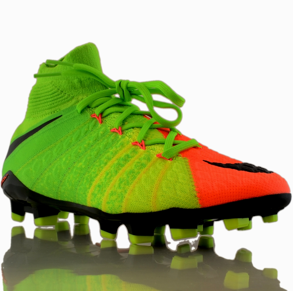 Nike Hypervenom Phantom III DF Tech Craft FG Soccer Cleats (Black/Electric Green/Sequoia/Palm Green)