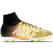 Nike Youth Mercurial Victory VI DF FG Soccer Cleats (Laser Orange/Black/White/Volt)
