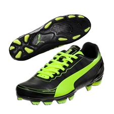 Puma evoSPEED 5.2 Youth FG Soccer Cleats (Black/Fluorescent Yellow)