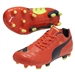 Puma evoPOWER 3 Youth FG Soccer Cleats (Fluro Peach/Ombre Blue)