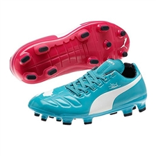 Puma evoPOWER 3 Tricks Youth FG Soccer Cleats (Beetroot Purple/Bluebird/White)