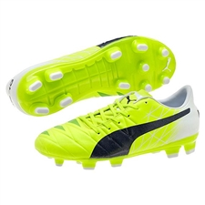 Puma evoACCURACY 1 Youth FG Soccer Cleats (Fluro Yellow/Peacoat/White)