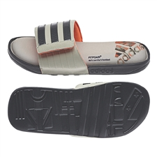 Adidas adissage Comfort Slides (Grey/Sesame/Infrared)