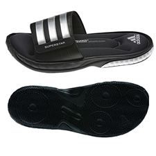 Adidas Superstar 3G Slides (Black/Silver Metallic/Solar Green)
