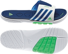 Adidas Men's adiZero Slide 3 SC Sandal (Running White/Dark Blue)
