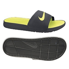 Nike Men's Benassi Solarsoft Slide Sandal (Anthracite/Volt)