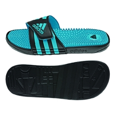 Adidas Women's adissage Slides (Black/Samba Blue/Black)