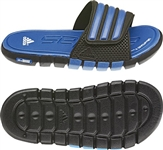 adiLight UF xJ Youth Soccer Sandal (Black/Fresh Blue/Running White)