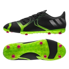 Adidas ACE 16+ TKRZ Soccer Shoes (Solar Green/Shock Pink/Black)