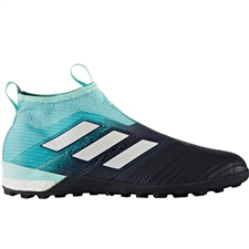 Adidas ACE Tango 17+ PureControl TF Turf Soccer Shoes (Energy Aqua/White/Legend Ink)
