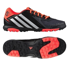 Adidas Freefootball X-ite Turf Soccer Shoes (Black/Metallic Silver/Pop)