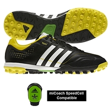 Adidas 11 Core TRX Turf Soccer Shoes (Black/Running White/Vivid Yellow)
