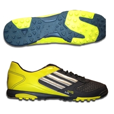 Adidas adi5 X-ite Turf Soccer Shoes (Dark Onix Metallic/Metallic Silver/Lemon Peel)