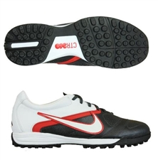 Nike CTR360 Libretto II Turf Soccer Shoes (Black/White/Challenge Red)