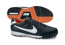 Nike Tiempo Mystic IV SoccerTurf Shoes (Black/Total Orange/White)