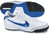 Nike Tiempo Mystic IV SoccerTurf Shoes (White/Metallic Silver/White/Treasure Blue)