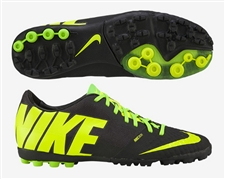 Nike FC247 Bomba Finale II Turf Soccer Shoes (Black/Volt/Electric Green)